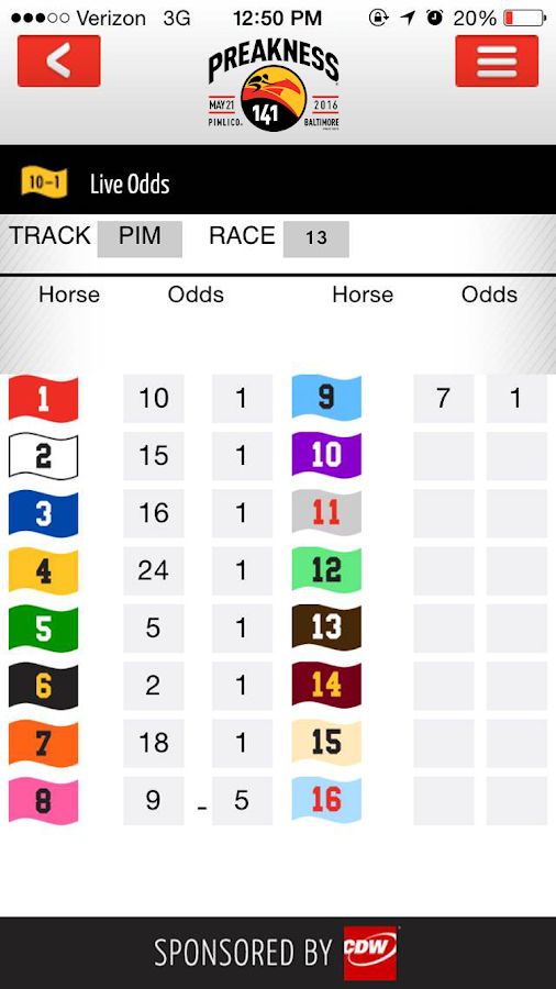 Preakness Stakes- screenshot