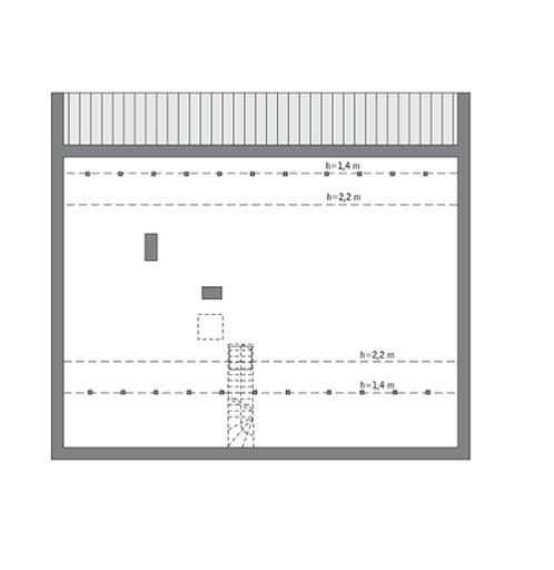 Przejrzysty - wariant X - C365j - Rzut poddasza do indywidualnej adaptacji (97,1 m2 powierzchni użytkowej)