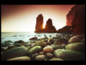 """Photo: My latest photo, shot one week ago. I usually submit photos taken long ago, as I still have hundreds of images to submit, but this time I decided to publish something """"fresh"""".  One of the most magical beaches in Portugal. Very hard to reach, but it pays off!  Quite a tricky exposure. Used a 3 stop ND grad filter + 2 stop ND grad filter, both with soft transition. Also used a 10 stop ND for the long exposure."""