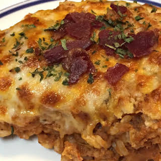 Healthy Bacon Cheeseburger Pie – 21 Day Fix Approved.