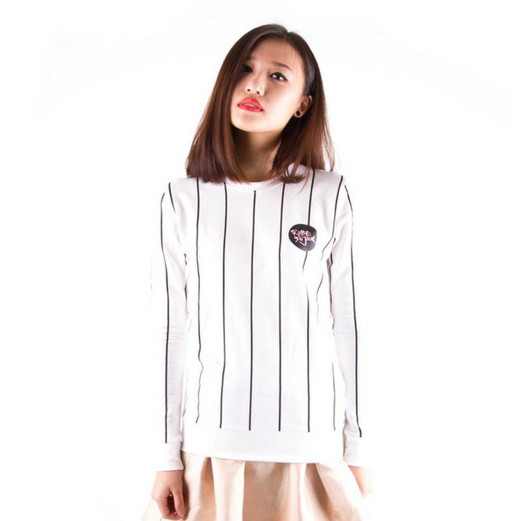 Baseball Sweater White by Meridian Street Sdn Bhd