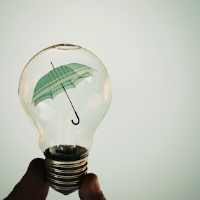umbrella lamp by Adrian  Limani - Artistic Objects Other Objects ( bulb, umbrella, lamp )