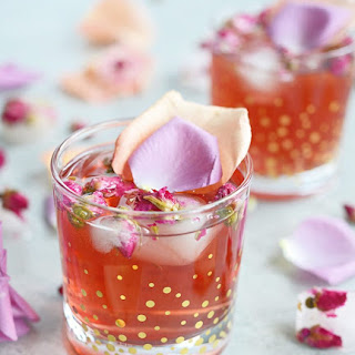Pomegranate Rose Gin Fizz