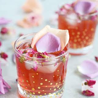 Pomegranate Rose Gin Fizz.