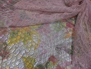 Photo: Кожа пласт 110см.на 0,85см. цена 4000          Коллекция ETRO                               Кружево 0,90см. цена 5000руб. (Solstiss)