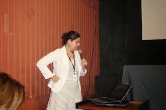 Photo: Andrea Costa do Museu Nacional/RJ apresentando a Rede de Educadores em Museus - REM