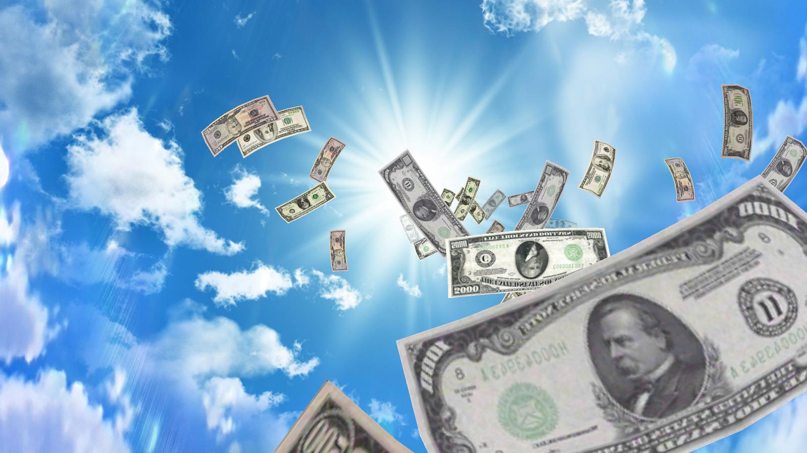 Деньги сыплются с неба фото 344-354