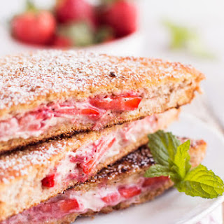 Healthy Cream Cheese Strawberry Stuffed French Toast Recipe
