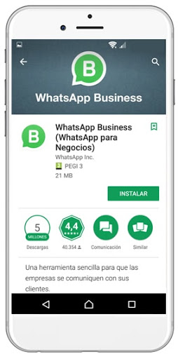 Uso WhatsApp empresas Conquista internet