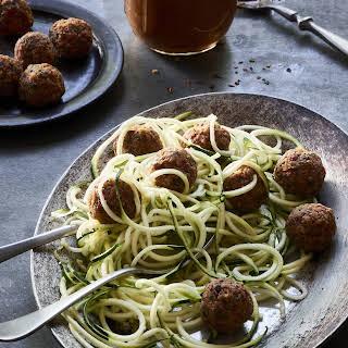 Raw Pasta Marinara and No-Meat Balls.