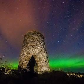 Stunning Scottish night sky by Lorraine Paterson - Landscapes Cloud Formations ( scotland, caithness, night photography, northern lights, aurora, windmill )