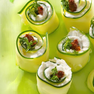 Filled Cucumber Wraps.