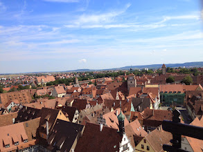 Photo: Rothenburg is the best preserved Medieval walled city