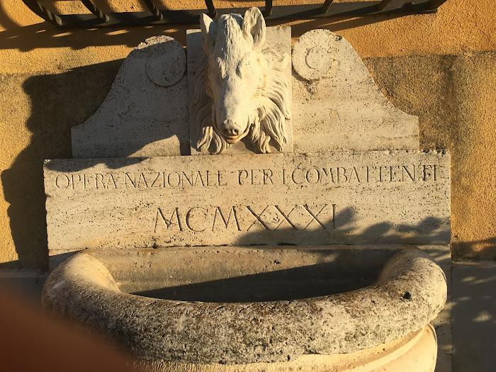 Lapide Opera Nazionale Combattenti MCMXXXI, Villa Granducale di Alberese