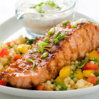 Baked Salmon With Couscous.