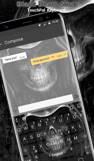 Black Death Skull Keyboard Theme 6.4.27.2019 screenshots 2