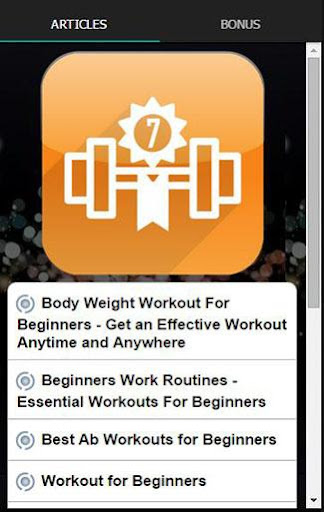 7 Minute Workout App Challenge