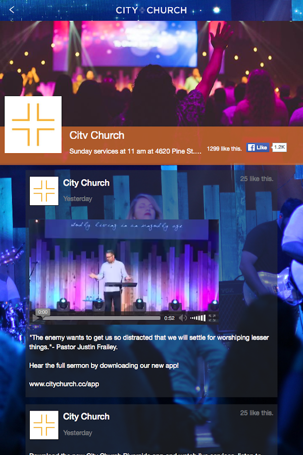 City Church Riverside- screenshot