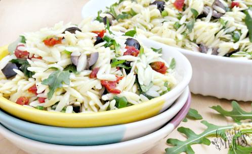 Click Here for Recipe: Orzo Salad with Dijon Vinaigrette
