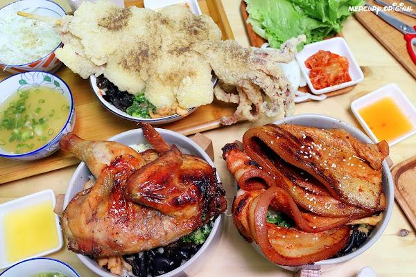 安羽軒食堂平價丼飯吃到飽!超狂CP值肉量大爆炸,蔥油飯、配菜、高麗菜絲、熱湯、飲料無限享用