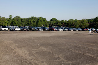 Photo: The parking lot at the Salem Mall starting to fill up on Saturday.