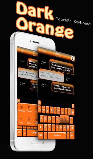 Dark Orange Keyboard Theme