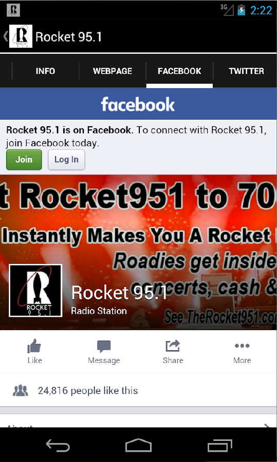 Rocket 95.1- screenshot