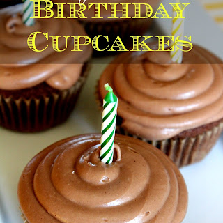 Sourdough Birthday Cupcakes.