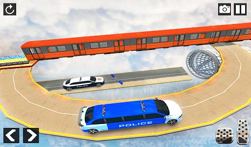 Police Limo Car Stunts - Mega Ramp Car Racing Game android2mod screenshots 11