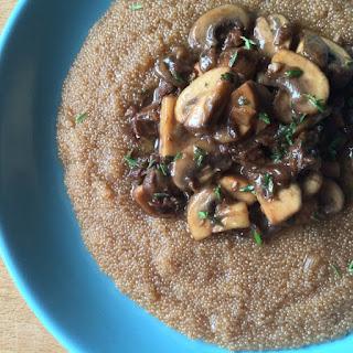 "Amaranth ""Risotto"" with Mushrooms Recipe"