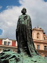 Photo: Jan Hus looks proudly onward