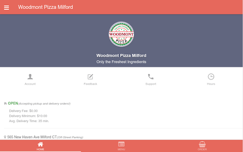 Woodmont Pizza Milford- screenshot thumbnail