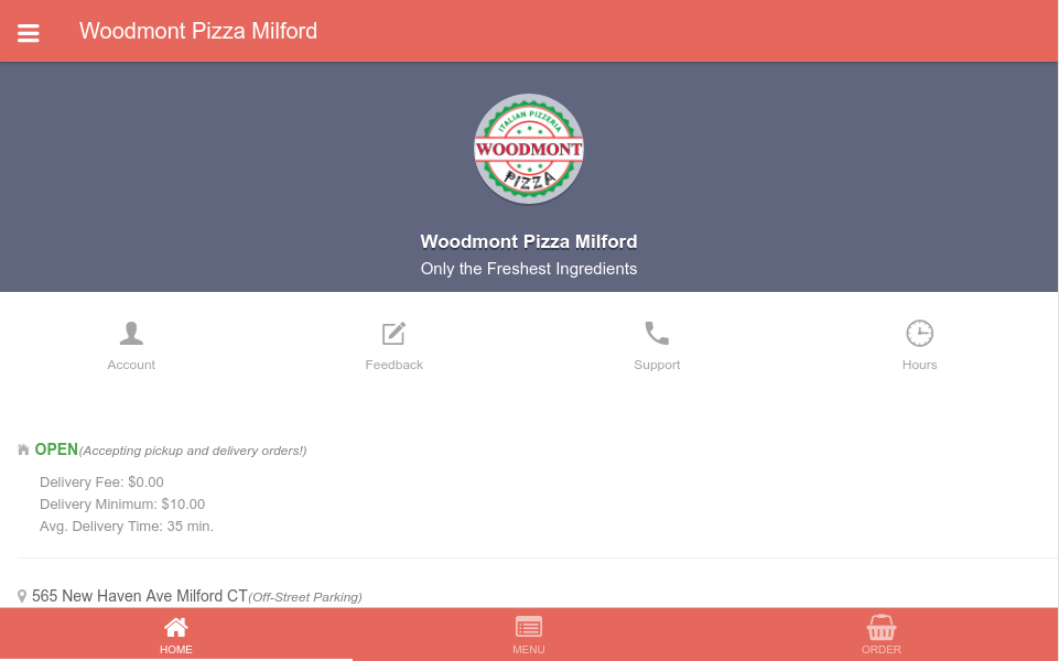 Woodmont Pizza Milford- screenshot