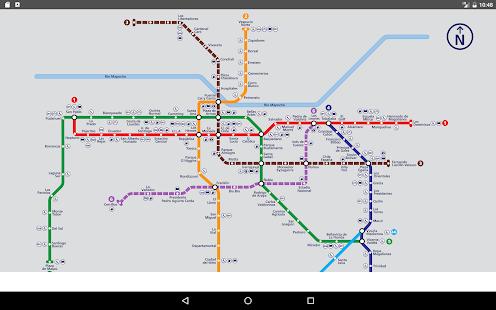 Santiago Subway Map