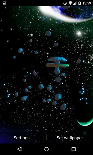 3D小惑星ライブ壁紙
