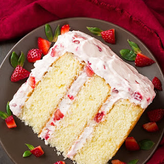 Strawberry Cake With Fresh Strawberries Recipes.