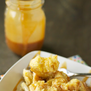Slow Cooker Bread Pudding with Salted Caramel Sauce Recipe