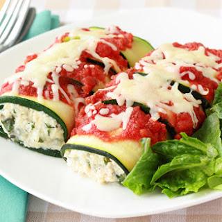 Healthy Zucchini 'N Cheese Manicotti Recipe
