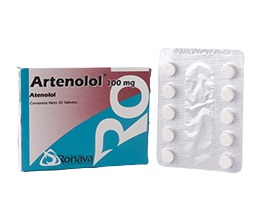 atenolol artenolol 100mg 30tabletas ronava