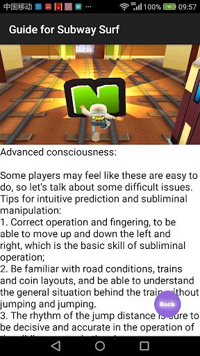 Guide for Subway Surf 1 screenshots 4
