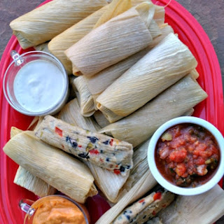 Smoky Fiesta Black Bean Tamales.