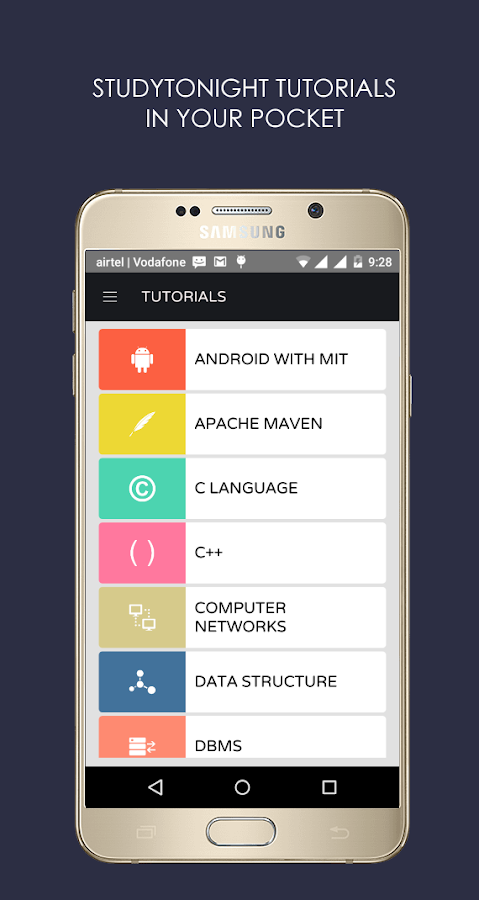 Studytonight- screenshot