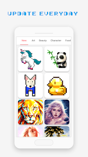 Pixel Art Book - Color by Number Free Games Screenshot