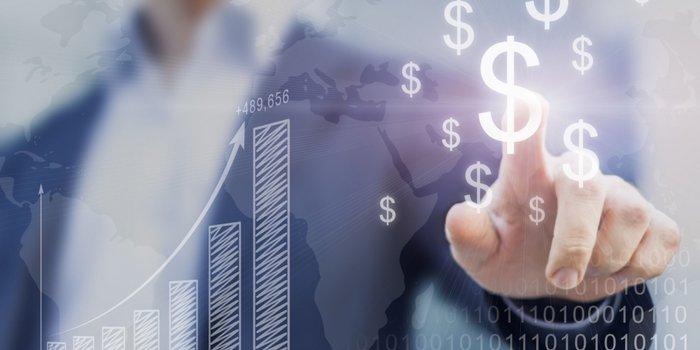Consultor financeiro e gráfico
