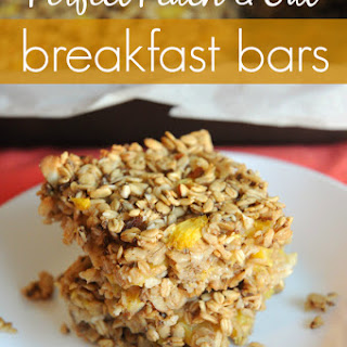 Perfect Peach & Oat Breakfast Bars.