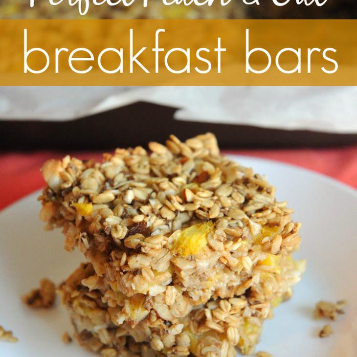 Perfect Peach & Oat Breakfast Bars Recipe