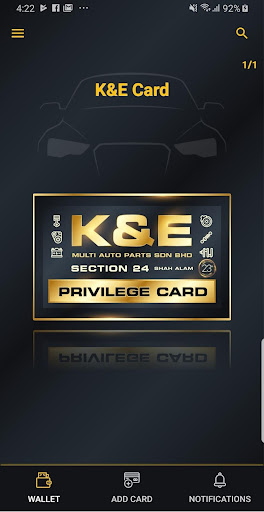 K & E PRIVILEGE CARD 1.0.1 screenshots 1