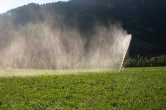 Photo: W tej okolicy wszędzie działają zraszacze na łąkach i pastwiskach.