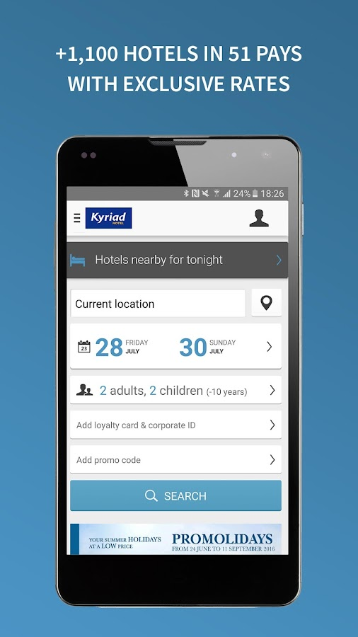 Kyriad - hotel booking- screenshot
