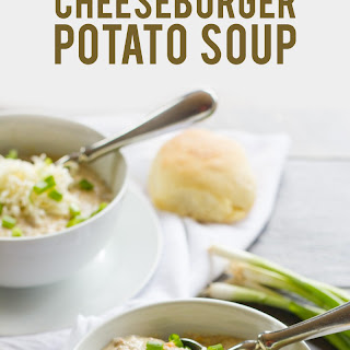 Slow Cooker Cheeseburger Potato Soup